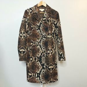 Michael Kors NWOT Snake Print Trench Style Jacket